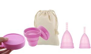 Coupe menstruelle et stérilisateur