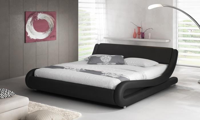 kunstlederen bed groupon goods. Black Bedroom Furniture Sets. Home Design Ideas