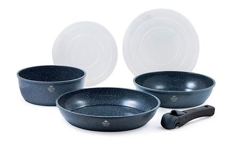 Pack de 2 Sartenes y 1 cazo con 3 funciones de cocinar, hornear y almacenaje