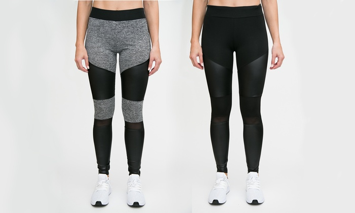 RAG Women's Performance Legging With Mesh (Plus Size Included)