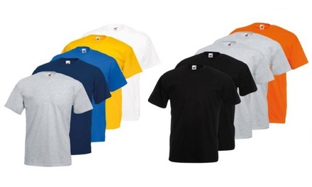 10 Fruit of the Loom T-Shirts Valueweight in der Farbkombination nach Wahl