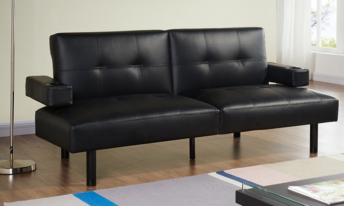 Hilton cinema style sofa bed groupon goods Groupon uk living room furniture