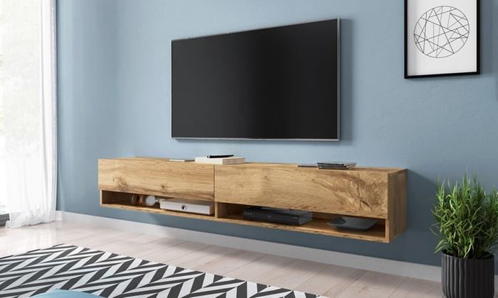 h ngendes tv lowboard wander groupon goods. Black Bedroom Furniture Sets. Home Design Ideas