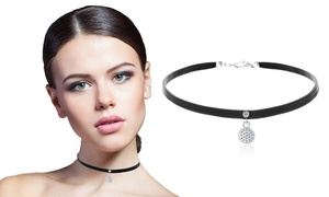 Vegan Leather Choker with Swarovski Elements  at Vegan Leather Choker with Swarovski Elements , plus 9.0% Cash Back from Ebates.