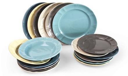 Set de 18 platos Excelsa Country Chic multicolor