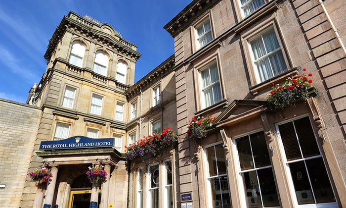 The Royal Highland Hotel - Inverness: Inverness: 1 to 3 Nights for Two with Breakfast and Option for Dinner and Wine at The Royal Highland Hotel