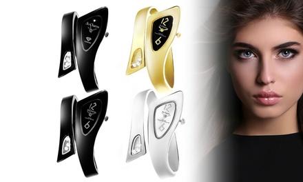 So Charm Paris Armband-Uhr verziert mit Kristallen von Swarovski®, wahlweise mit Diamanten  (Munchen)