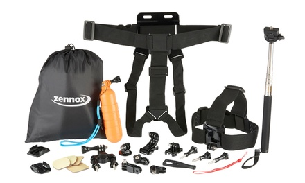 Zennox HD Action Camera Accessory Pack