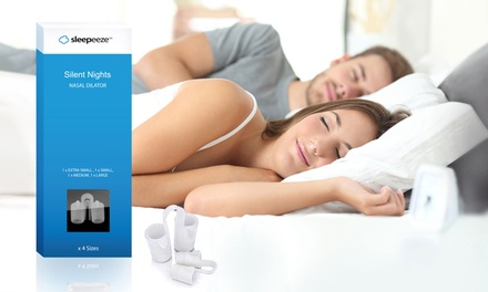 FourPack of Sleepeeze Slient Nights Nasal Dilators with Travel Case: One $17 or Two $27 Don't Pay up to $78