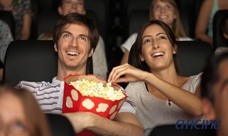 1, 2 o 4 entradas de cine con palomitas desde 5,50 € en 7 salas de Aficine