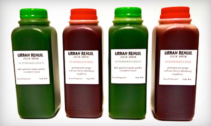 Renuil - Multiple Locations: Three-, Five-, or Seven-Day Juice Cleanse at Renuil (Up to 51% Off)