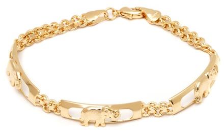 Elephant Charm Meshed Link Chain Bracelet