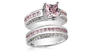 2.50 Cttw Pink Sapphire Double Princess Cut Ring