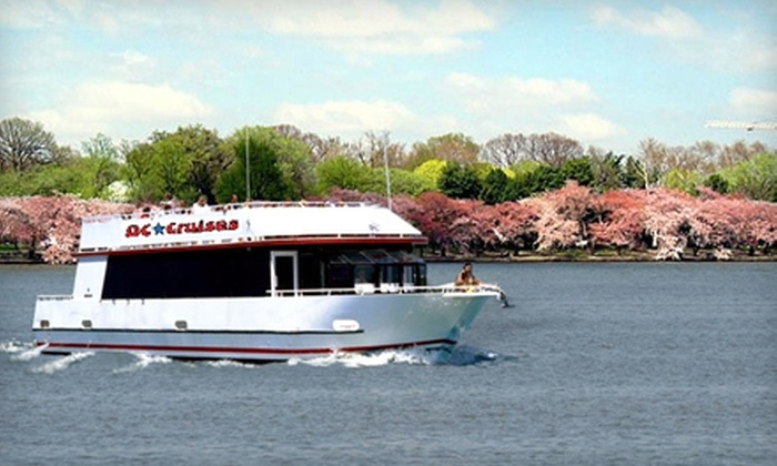 DC Cruises - Washington: Happy-Hour or Cherry Blossom Spring Cruise for One, Two, or Four from DC Cruises (Up to Half Off)