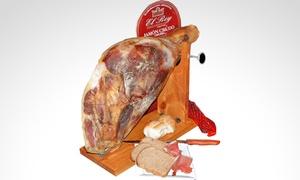 Frigorifico El Rey: Desde $789 por 1/2 o 1 pata de jamón crudo a elección con opción a cuchillo y tabla en Frigorifico El Rey
