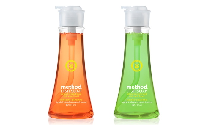 Method Dish Soap Pump (6-Pack): Method Dish Soap Pump; 6-Pack of 18 fl. oz. Bottles + 5% Back in Groupon Bucks. Multiple Scents.