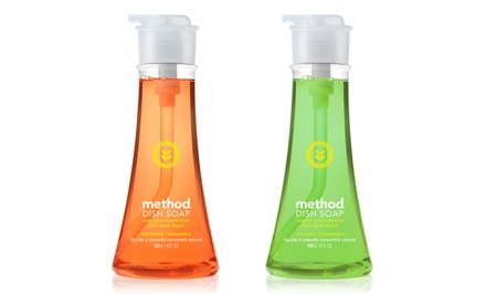 Method Dish Soap Pump; 6-Pack of 18 fl. oz. Bottles + 5% Back in Groupon Bucks. Multiple Scents.