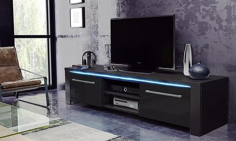 Mueble de TV Messa con luz LED azul