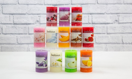 Six Bolsius RusticStyle Pillar Scented Candles