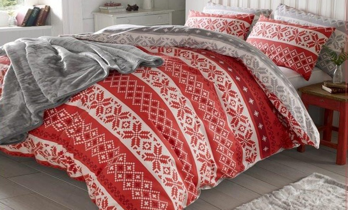 Brushed Cotton Scandinavian Print Duvet Sets from €29.99 With Free Delivery (Up to 49% Off)