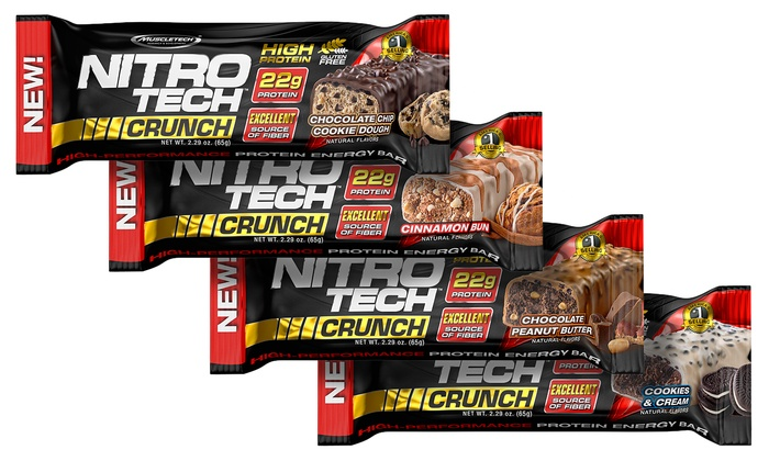 Muscletech Nitro Tech Crunch Protein Bar 36 Count