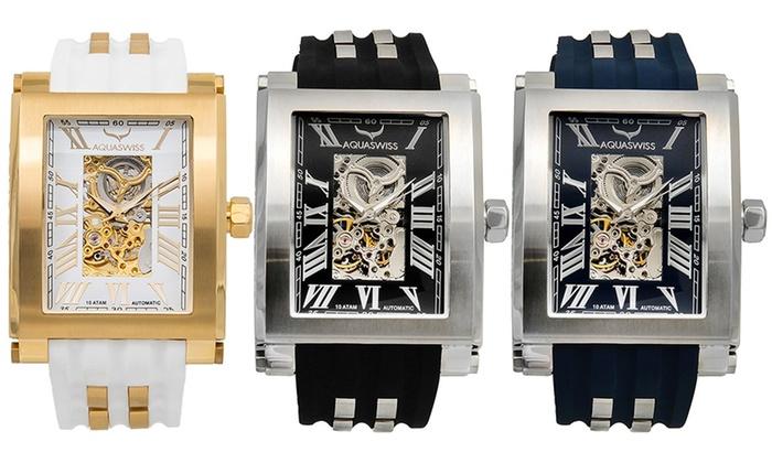 Aquaswiss: Men's Aquaswiss Tanc XG Automatic Swiss Watch for €99.99 With Free Delivery