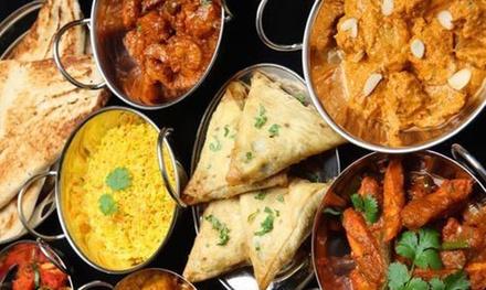 Menú indio para 2o 4 con entrante, principal, postre y bebida desde 22,99 € en Bollywood