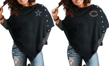 Little Earth NFL Women's Button Poncho