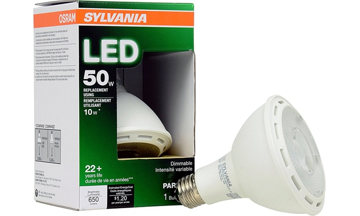 Sylvania 50W Equivalent PAR30 Long-Neck Dimmable LED Bulbs (6-Pack)