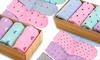 Women's Heart and Dot Print Socks