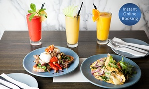 Onyx Tapas Bar & Restaurant: Breakfast and Fresh Juice - One ($12) or Four People ($44) at Onyx Restaurant Cocktail and Tapas Bar (Up to $112 Value)