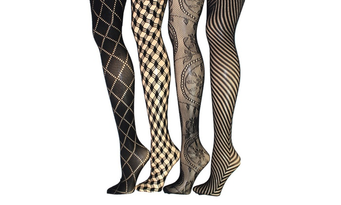 0d154daae Fishnet Tights in Regular and Plus Sizes (4-Pack)