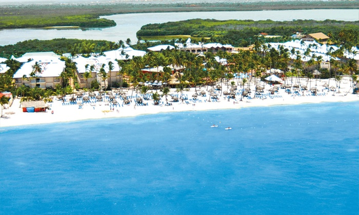 Be live grand punta cana with round trip airfare in la for Round the world trips all inclusive