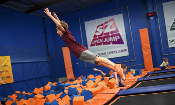 Sky Zone - Sky Zone - Maumelle, AR: Hour of Trampoline Jumping for Two or Birthday Party for 10 Kids at Sky Zone (Up to 56% Off)