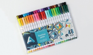 Triangle-Shaped Drawing Pens for Adult Coloring Books