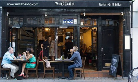 Two- or Three-Course Italian Meal for Two at RustiKo (Up to 50% Off)