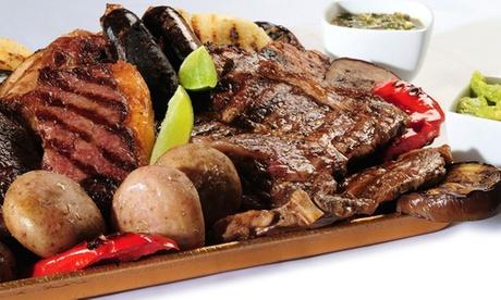 Menú para 2 o 4 con ensalada, parrillada de carne, postre o café y bebida desde 29,95 € en Biznaga Café
