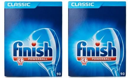 90 o 180 cápsulas de detergente Finish Powerball