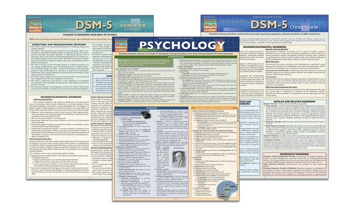 Psychology Cheat Sheet Bundle