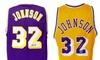 Los Angeles Lakers Magic Johnson Autographed Custom Basketball Jerseys:  Los Angeles Lakers Magic Johnson Autographed Custom Basketball Jerseys