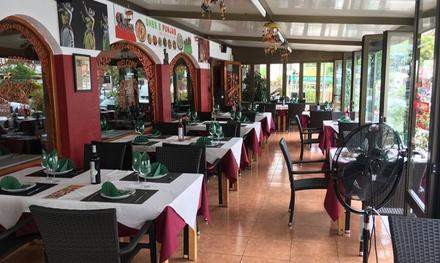 Menú para 2 con entrante, principal, postre y bebida en Restaurante Indio Sher E Punjab (hasta 50% de descuento)