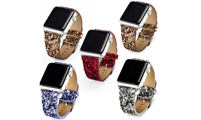 com apple cz bling amazon hermes chain clasp with watch dp soft iwatch strap replacement metal crystal adjustable bands band
