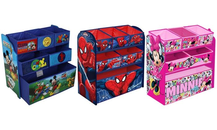 Groupon Goods Global GmbH: Kids' Minnie, Mickey or Spiderman Wooden Toy Storage