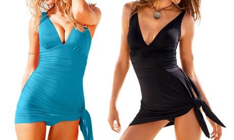 Vestito con scollo a V per il mare con coppe modello Desiree disponibile in vari colori e taglie