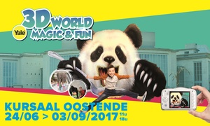 3D World Magic & Fun Belgium: Ticket d'entrée Yale 3D World Magic & Fun Ostende pour toute la famille