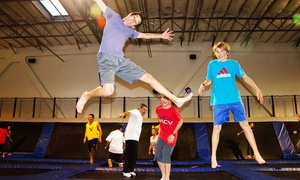 EZAIR Trampoline Park & Laser Tag: Jump Passes, Laser Tag, or Party for 10 at EZAIR Trampoline Park & Laser Tag (Up to 45% Off)