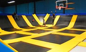 Bounce! Trampoline Sports  : One- or Two-Hour Bounce Pass for Two or Four at Bounce! Trampoline Sports (Up to 51% Off)