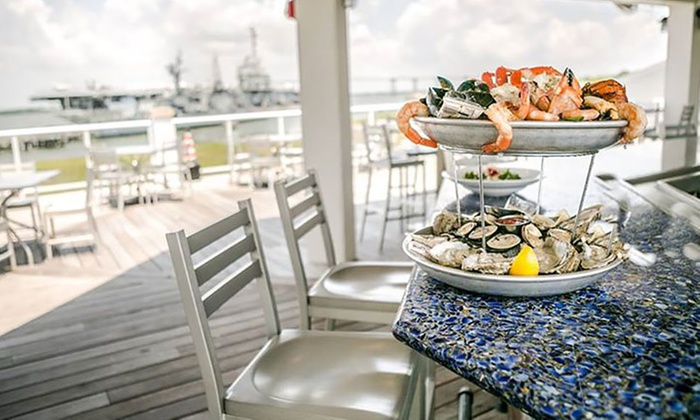 Charleston Harbor Fish House - Mount Pleasant: Seafood and Steak for Dinner or Lunch at Charleston Harbor Fish House (Up to 40% Off). Three Options Available.