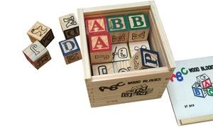 27-Piece Educational Wooden ABC Blocks