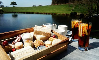 Lakeside Afternoon Tea with Pimm's for Two or Four at Shrigley Hall Hotel (Up to 38% Off)